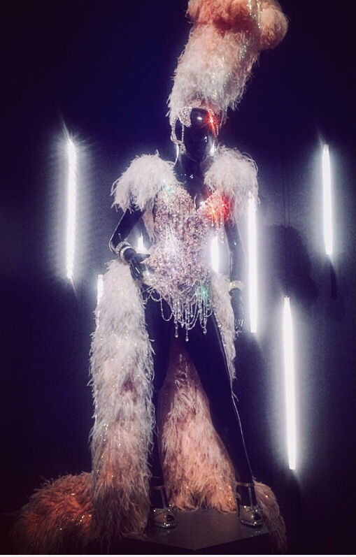 Kylie's stage outfit at the Arts Centre Melbourne's exhibition