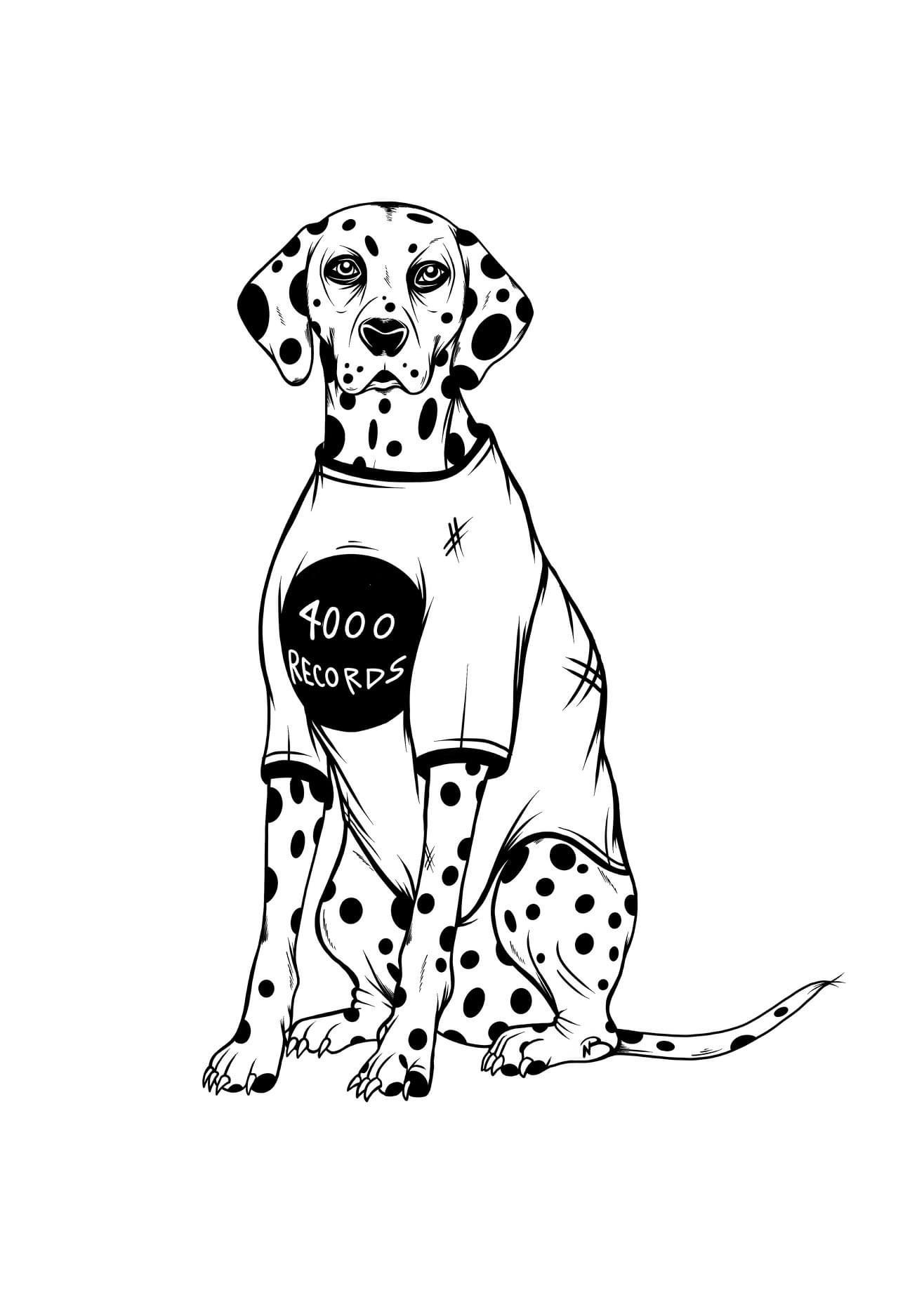4000 Records' logo
